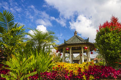 Gazebo under blue sly. Royalty Free Stock Images