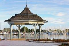 Gazebo view at the marina Royalty Free Stock Images