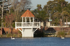 Gazebo at Virginia Lake. Wanganui, New Zealand Stock Photo