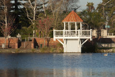 Gazebo at Virginia Lake. Wanganui, New Zealand Stock Images