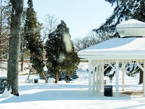Gazebo w zimie Zdjęcia Royalty Free