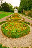 Gazebo and Walk way in an English Formal Garden Stock Photos