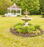 Gazebo and water fountain Royalty Free Stock Photography