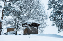 Gazebo winter Stock Photos