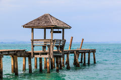 Gazebo and wood jetty Stock Images