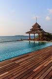 Gazebo wood and swiming pool. In Koh Mon Nork ,Thailand Royalty Free Stock Photography