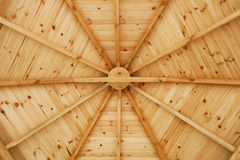Gazebo wooden ceiling close up. Stock Image