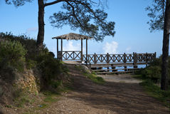 Gazebo in the woods Royalty Free Stock Images