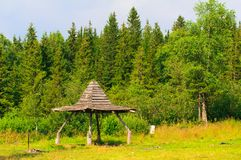 Gazeboluifel voor toeristen stock afbeeldingen