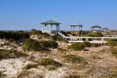 Gazebos della spiaggia del North Carolina Fotografie Stock Libere da Diritti