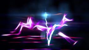 Gazela da energia de pulso do batimento cardíaco do relâmpago que corre em feito a mão original da qualidade nova sem emenda de n ilustração stock