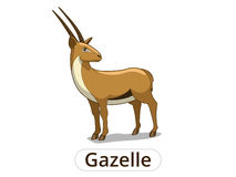 Gazelle african savannah cartoon illustration Stock Images