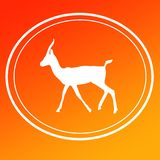 Gazelle Chinkara Logo Image Background Icon. On Yellow Orange Magenta Gradient Background for websites, web pages, posters, banners, presentation, wallpapers royalty free stock photo