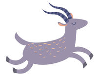 Gazelle. Flat cartoon vector illustration Royalty Free Stock Image