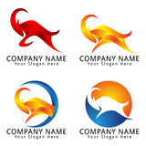 Gazelle Jumping Concept Logo Royalty Free Stock Images