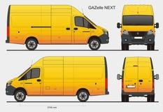 Gazelle russe prochain LWB d'autobus de cargaison Photo libre de droits