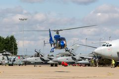 Gazellenhubschrauber HA-LFQ Aerospatiale SA-341G Stockbild