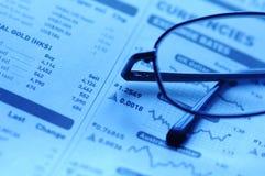 gazeta jednostek gospodarczych Fotografia Stock