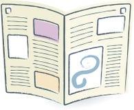gazeta otwarte wektora ilustracja wektor