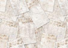 Gazeta rocznika grunge starego kolażu textured tło obraz royalty free
