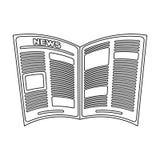gazeta Starości pojedyncza ikona w konturu stylu symbolu zapasu ilustraci wektorowej sieci Zdjęcia Royalty Free