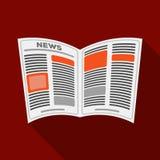 gazeta Starości pojedyncza ikona w mieszkanie stylu symbolu zapasu ilustraci wektorowej sieci Zdjęcia Royalty Free