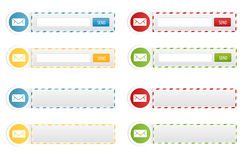 Gazetek formy i Kontaktowi sztandary Obrazy Stock
