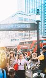 Gazetowej dystrybuci cyrka Oksfordzka stacja Zdjęcie Royalty Free