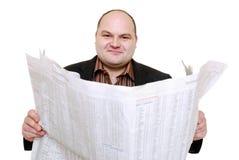 gazetowy czytanie Zdjęcie Stock