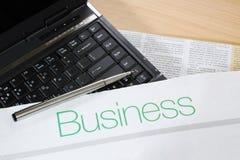 gazetowy laptopu pióro Obraz Stock