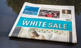 Gazette de Montréal Photographie stock libre de droits