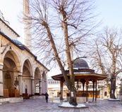 Gazi Husrev土侯清真寺在萨拉热窝 图库摄影