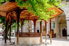 Gazi Husrev-умоляет мечети, Сараеву, Босния и Герцеговина стоковое изображение