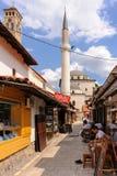 Gazi husrev-bedelt de kant van het moskeewesten royalty-vrije stock foto's