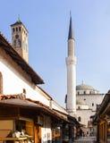 Gazi Husrev-bey Mosque and the Clock Tower, Sarajevo Stock Image