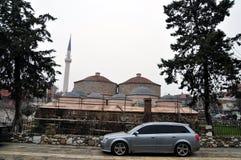 Gazi Mehmet Pasha Hamam in Prizren, Kosovo. Old Turkish bath (hamam) in downtown Prizren. The 16th-century building is one of the city's cultural landmarks Stock Photo