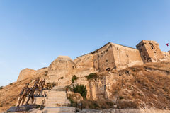 Gaziantep Fort in Turkey. Gaziantep (or Antep) is a major city in Southeastern Anatolia in Turkey. The city lies only a few kilometers from the border with Syria Royalty Free Stock Photo