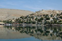 Gaziantep in the reservoir Stock Photos