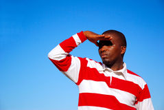 gazing небо человека Стоковая Фотография RF