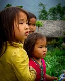 Gazing. Children in Hà Giang gazing in the distance royalty free stock photography