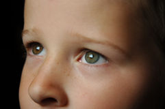 Gazing Eyes. Childs face looking up Royalty Free Stock Image