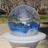 Gazing Globes Installation By Paula Hayes In Madison Square Park. Royalty Free Stock Photography