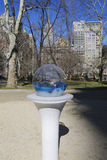 Gazing Globes installation by Paula Hayes in Madison Square Park. Stock Photo
