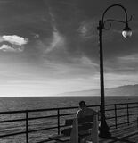 Gazing North From Santa Monica Pier CA Stock Images