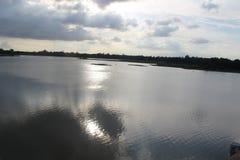 gazipur边pubail美丽的景色  免版税库存照片