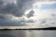 gazipur边pubail美丽的景色  库存照片