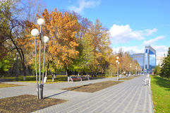 Gazoil-Plaza, business center. Tyumen, Russia. Royalty Free Stock Photo