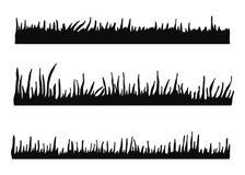 Gazon sylwetka Odosobniona wektorowa ilustracja na białym backgr ilustracji