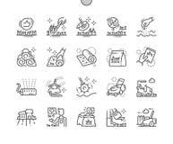 Gazon Wykonująca ręcznie piksla Perfect wektoru ikon 30 Cienka Kreskowa 2x siatka dla sieci Apps i grafika ilustracja wektor
