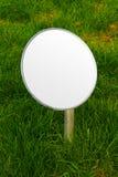 Gazonu symbolu egzaminu próbnego up round - pusta przestrzeń dla twój znaka obraz stock